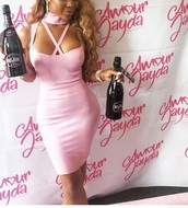 dress,amourjayda,pink,bodycon dress