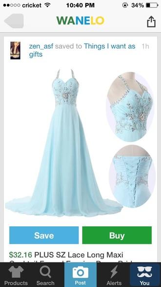 dress pastel blue beautiful prom dress long prom dress