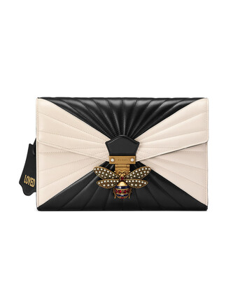 leather clutch metal women quilted clutch leather black bag