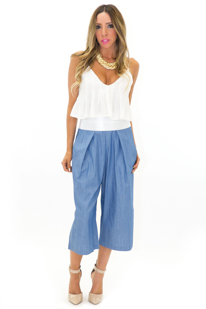 SASHA WIDE LEG CROP PANT | Haute & Rebellious