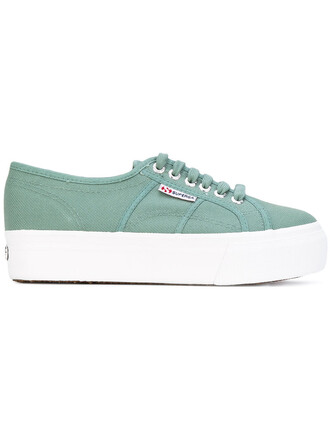 women sneakers lace cotton green shoes