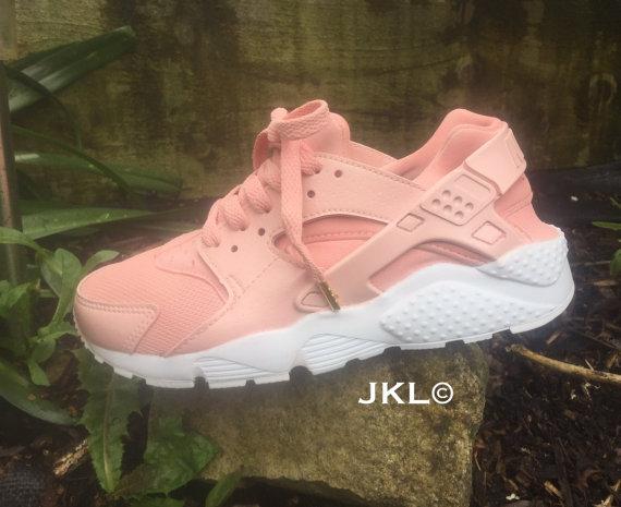 66895e306bf0d Rose Gold Nike Air Huarache White or Gold sole customs