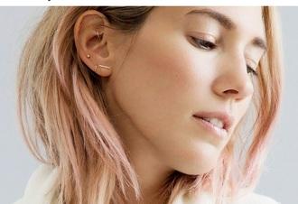 jewels earrings gold jewelry delicate dainty gold earrings