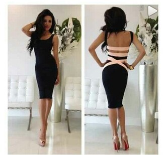 dress backless dress little black dress