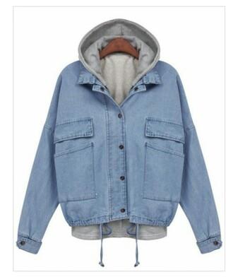 jacket hooded jeanjacket hooded jacket denim jacket denim