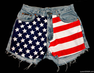 shorts american american flag flag usa usa shorts american flag shorts high waisted shorts high waisted flag shorts high rise stars stripes stars and stripes red and white red white blue patriotic july 4th cute denim
