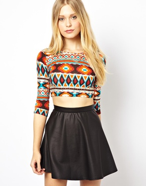 AX Paris | AX Paris Long Sleeve Crop Top at ASOS