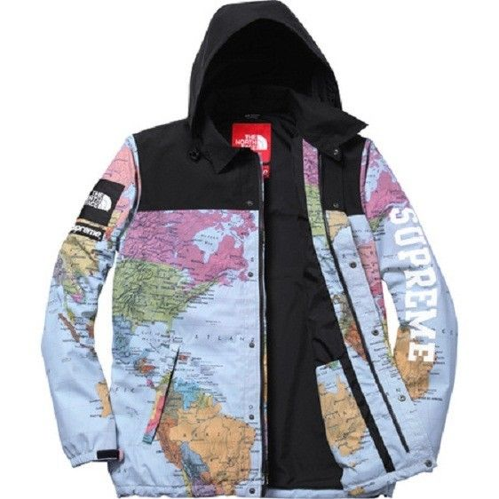 e3282d412389 ... x northface map jacket size us l eu 52 54 3 4c39f b26e7  hot supreme s  s 2014 the north face tnf coaches jacket map expedition m cdg box logo
