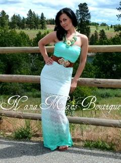 AQUA OMBRE LACE DRESS on The Hunt
