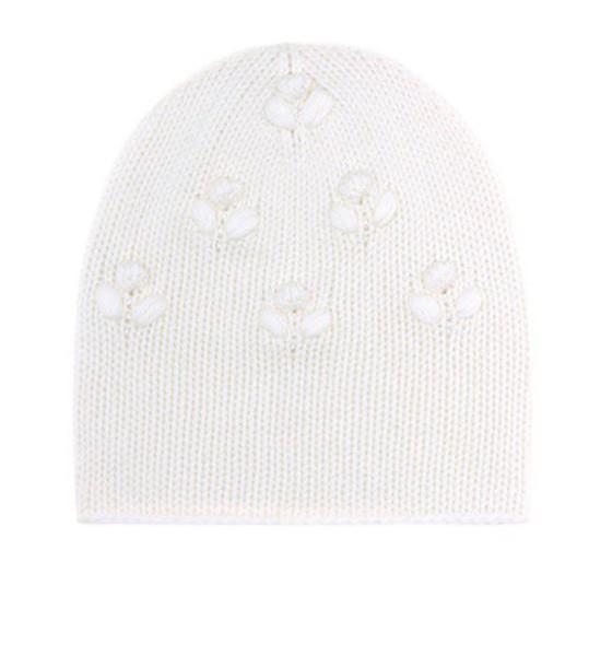Loro Piana baby beanie white hat