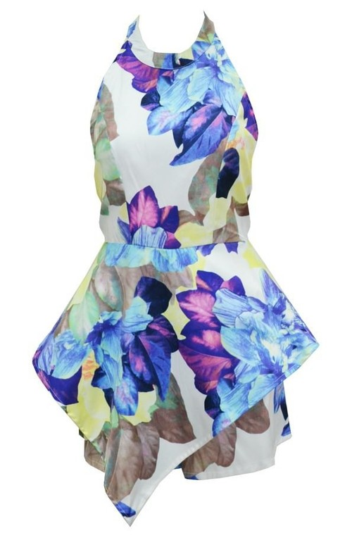 Outletpad | Flower printing exaggerated Playsuit | Online Store Powered by Storenvy