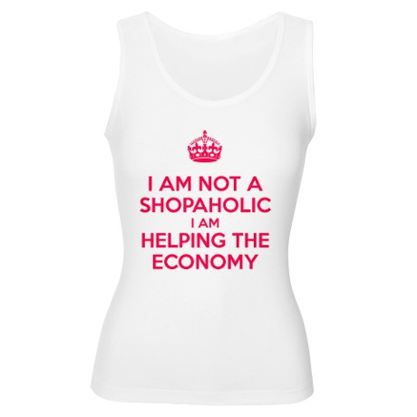 I am not a Shopaholic Tank Top by theworldgonecrazy