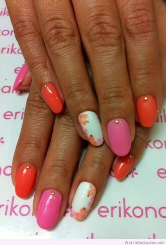 nail accessories nails spring pink red