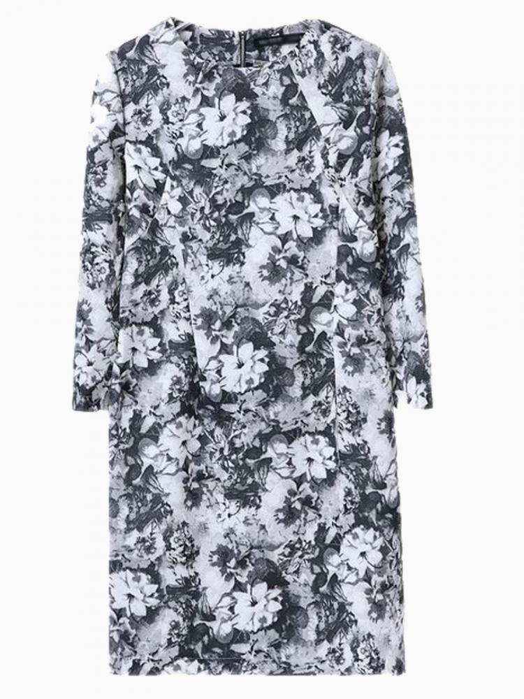 Vintage Blue Floral Dress   Choies