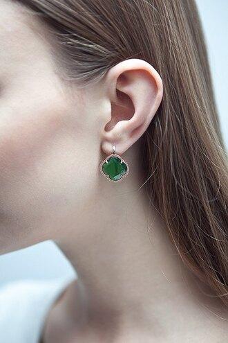 jewels earrings emerald green vintage classic