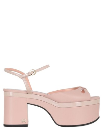 sandals leather sandals leather light pink light pink shoes
