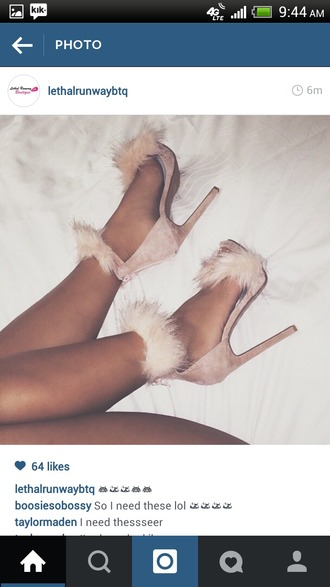 shoes nude heels fluffy sandals pink heels fur heels high heels pink fluffy sexy nude socks girly fur heels furry heels nude heels underwear lingerie pale cute grunge tumblr pastel