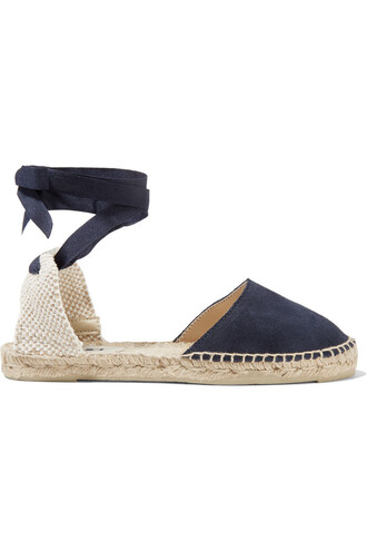 espadrilles suede navy shoes