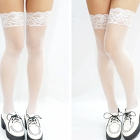 Sexy Thigh Lace Fishnet Stockings - White · Sandysshop · Online Store Powered by Storenvy