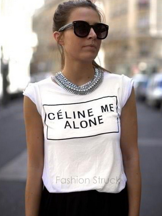 Celine me alone tee · fashion struck · online store powered by storenvy