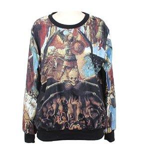 Amazon.com : ranogi women's jesus painting print mesh hoodie sweatshirt, one size : sports & outdoors