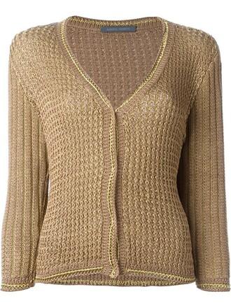 cardigan women cotton brown sweater
