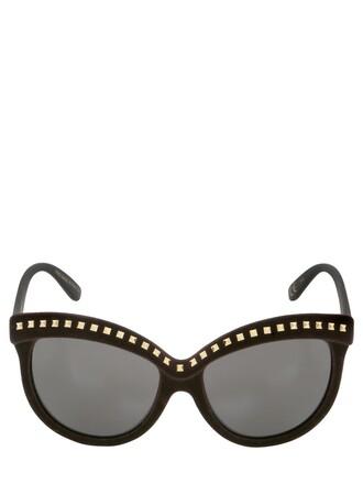 studs sunglasses velvet gold brown