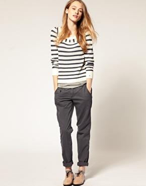 Pantalon chino avec ceinture chez asos