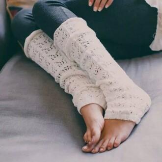socks leg warmers knitwear