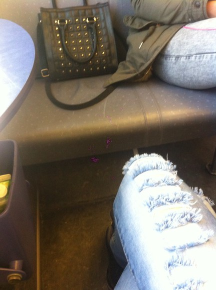 bag handbag black spikes spiked