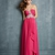 Sweetheart Ruched Bodice Beadings Layered Chiffon Prom Dress PD11388