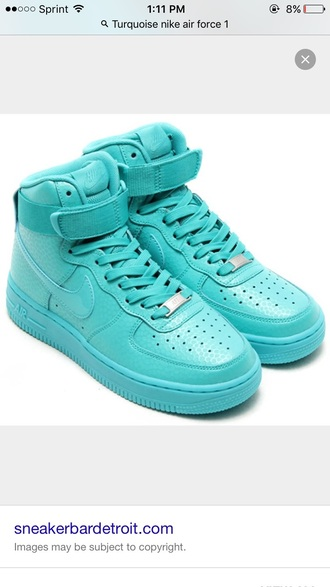 shoes nike air force nike turquoise