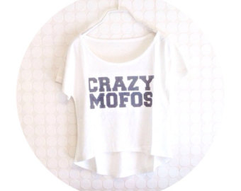 crazy mofo tank top on Etsy, a global handmade and vintage marketplace.