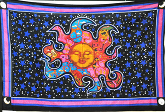 home accessory hippie tapestry beach twin bedding bedroom sleeping sun psychedelic celestial beach towel paris room decor sun wall hanging