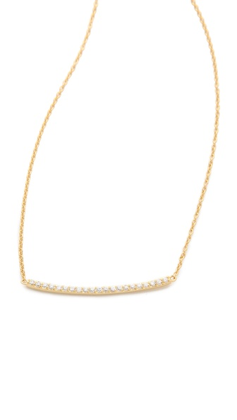 Gorjana Taner Pave Bar Necklace | SHOPBOP