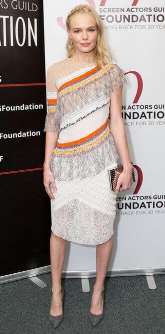 dress kate bosworth fringes fringed dress pumps shoes