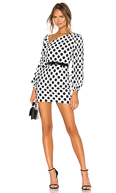 Lovers   Friends Andy Mini Dress in Black & White from Revolve.com