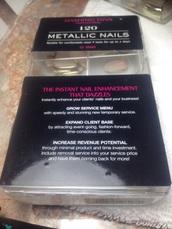 nail accessories,metallic nails