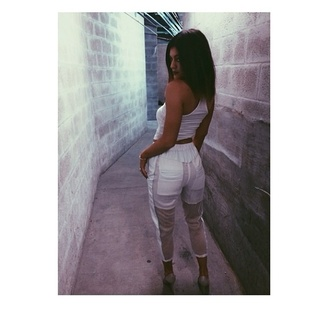 jeans pants kylie jenner white