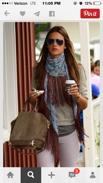 scarf fringes fall outfits allesandra ambrosioo allesandra allesandra ambrosia victoria