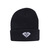 Brilliant Fold Beanie in Black - BEANIES - HEADWEAR