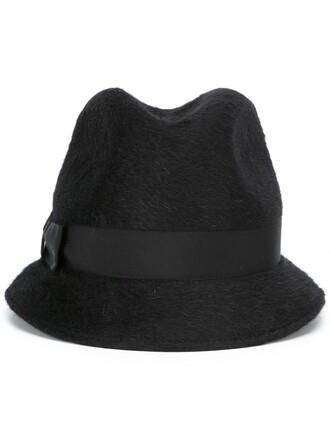 fur women hat black