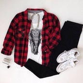blouse,t-shirt,pants,jacket,shirt,black and white,cotton,tribal pattern,elephant print tank tee,red,black,squares,belt,jeans,top,flannel,bag