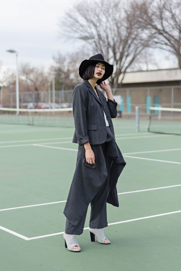 ordinary people blogger jacket peep toe boots peep toe tailoring