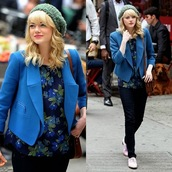 beanie,hat,gwen stacy,cute,blouse