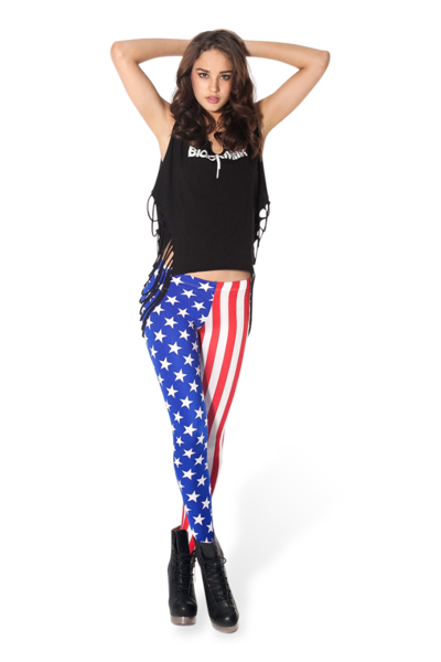 Kids in Amerika Leggings - LIMITED › Black Milk Clothing