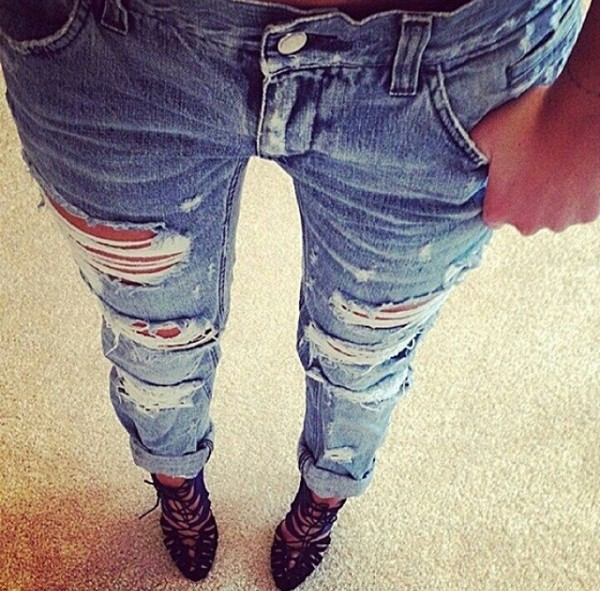 jeans ripped jeans destroyed skinny jeans slim jeans bleu