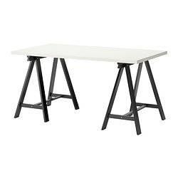 Amazon.com: IKEA Table, white, black 122020.17175.3038: Home & Kitchen