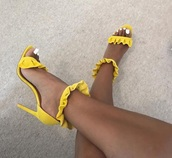 shoes,yellow jaune shoes sandals summer