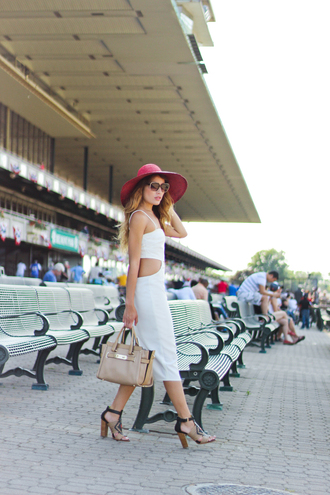the marcy stop blogger dress sunglasses bag shoes hat boho hat